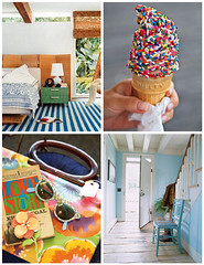 Beach Cottage Vibe (Lolalina) Tags: inspiration magazine colorful domino boho moodboard beachy housebeautiful countryliving