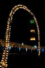 Minaret Badshahi Mosque (Mohsin Khawar-Facebook: Mohsin Khawar Photography) Tags: pakistan lights nightshot minaret arches mosque lahore badshahimosque subcontinent mughalarchitecture mohsinkhawar