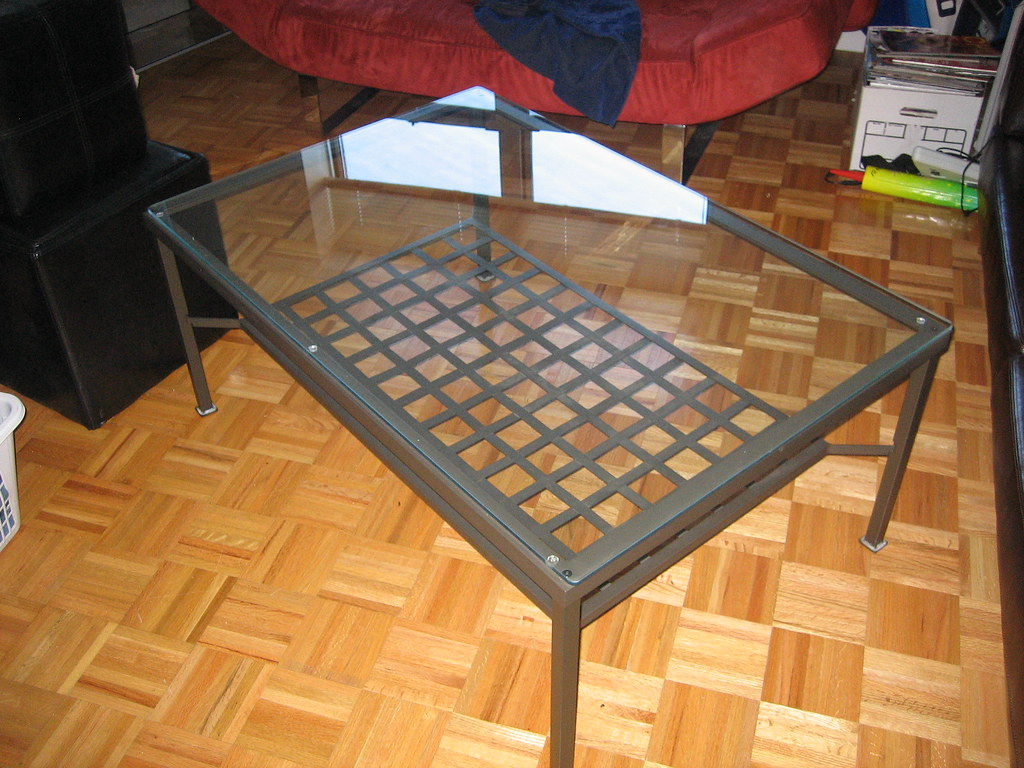 Ikea Glass Top Coffee Table for $50
