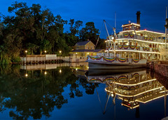 Liberty Belle (Todd Hurley (Todd_H)) Tags: park longexposure nightphotography trip family light usa color reflection water night canon river fun island photography boat orlando florida postcard disney disneyworld mickeymouse riverboat bluehour wdw waltdisneyworld hdr magickingdom waltdisney orlandofl libertysquare wdi lakebuenavista imagineering libertybelle baylake waltdisneyworldresort harpersmill libertybelleriverboat canoneos5dmarkii canon5dmkii canon5dmark2 5dmkii 5dm2 5dmark2 canon5dmarkii canon5dii canon5d2 canon5dm2 5stardisneyaward thhphotography toddhurley