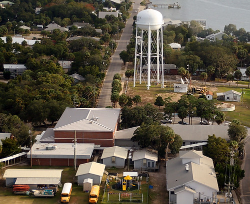 Aerial View of the Back of Cedar Key School When Landing...