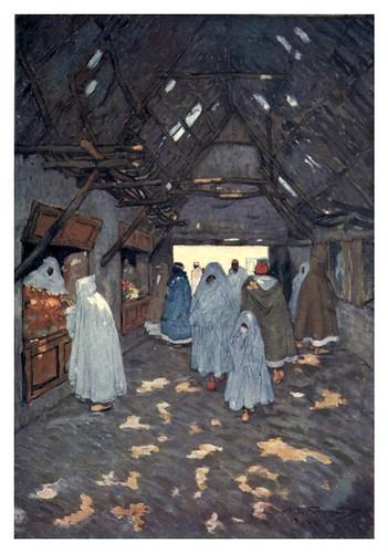 024-Un bazaar en el zoco de Marrakesh-Morocco 1904- Ilustraciones de A.S. Forrest
