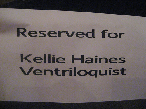 Hannah and I had reserved seats