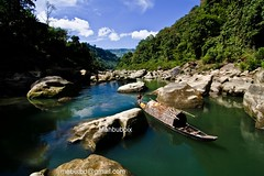 Published in the Photobook of the Boulevard of Photography (ahbub  ircle f onfusion) Tags: mountain fountain stone boat hill border valley myanmar bangladesh bandarban