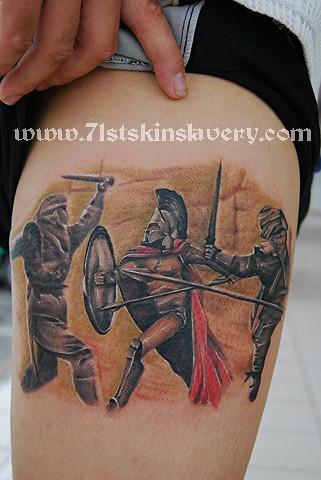 300 spartan tattoo. www.71stskinslavery.com