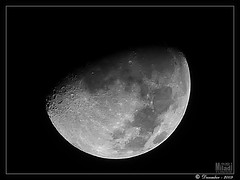 --- lune --- Moon --- Mond --- Luna -26-12-2009 (Rached MILADI -  ) Tags: mer moon lune lumix noir space satellite panasonic craters reflet crater astronomy universe paysage nuit plage fz espace solarsystem tunisie 38  astronomie  univers cratre      cratres rached  aplusphoto systmesolaire miladi  rachedmiladi  fz38 dmcfz38