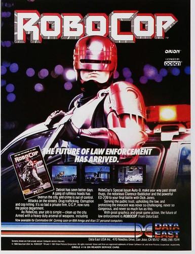 Robocop para Commodore 64, IBM, Amiga y Atari ST (1988)