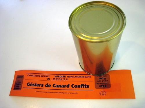 Canned gesiers