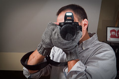 011/365 Camera Mittens (Alan Rappa) Tags: camera portrait crafts pad knit homemade gloves photoaday 365 knitted mittens pictureaday madebymom madewithlove project365 canon7d cameramittens photomittens