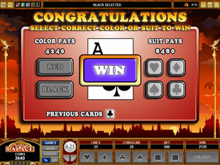 free Days of the Tsar gamble bonus game