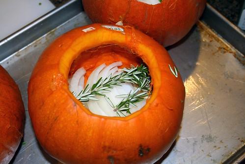 Gutted pumpkin