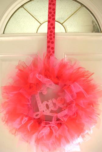 Kami Buchanan Custom Designs Valentine Tulle Wreath