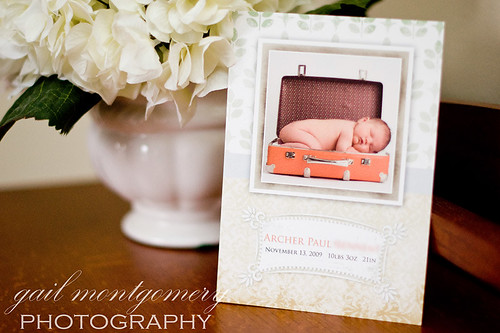 Baltimore Maryland Baby Child Family Photographer custom birth Announcement