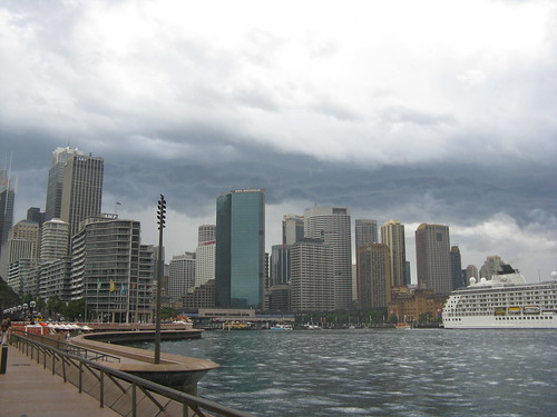 View back from the Opera House