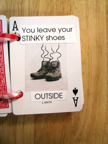 You leave your STINKY shoes OUTSIDE