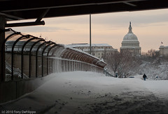 Storm's Passing 2 (Tony DeFilippo) Tags: sunset usa snow weather dc washington dcist blizzard exposed capitoldome dcmonument 2011 nikon3570f28 snowpocalypse20092010