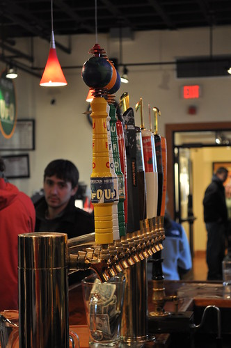 Taps at Harpoon Brewery Store