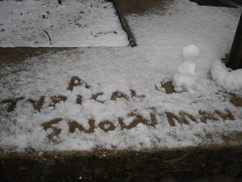 A typical snowman