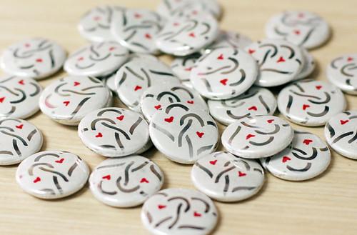 Valentine buttons