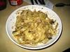 Tagliatelle met champignons, aubergine en blauwe kaas