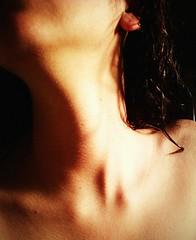 Unseen ((◡‿◡✿) lightweight) Tags: shadow portrait wet self dark hair neck shadows jaw ears goose antlers curly ear bones shiva bumps bump goosebumps goosebump