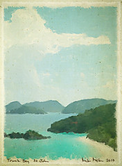 trunk bay wc 1552 sm (VaMedia) Tags: travel art texture watercolor landscape stjohn digitalpainting virginislands trunkbay vamedia