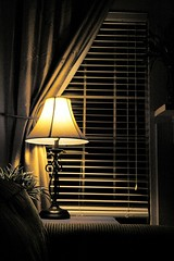 Scene from the couch (Beefus) Tags: california home lamp availablelight livingroom couch blinds hollister