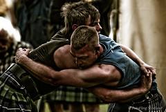 John Taylor & Fraser Hirsch (FotoFling Scotland) Tags: dunoon gathering highlandgames wrestling bout contest cowal fraserhirsch grip hold johntaylor kilt muscle