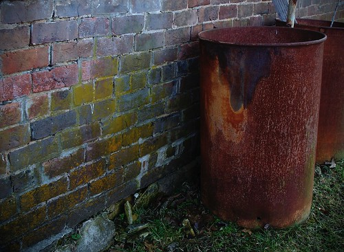 rust and brick