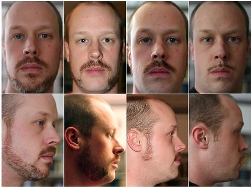 Facial Hair Fun - Collage