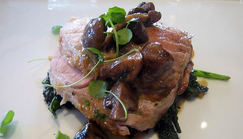 pork loin with mushroom sauce for Restaurant Week at L'Espalier