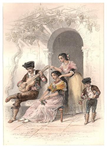 019-La Zambomba-Un domingo por la mañana en Granada-Voyage pittoresque en Espagne et en Portugal 1852- Emile Bégin