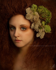 Mother Earth (Denyse Rizzo Photography) Tags: woman nature beauty fashion canon photography moss surreal portraiture rizzo strobe teasedhair denyse elinchrome canoneos50d