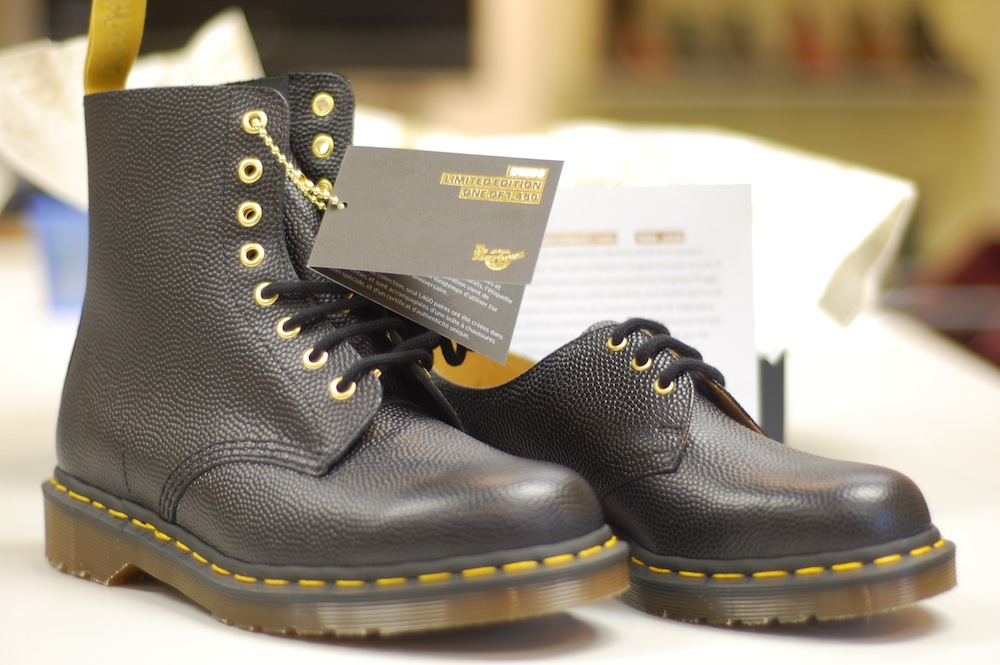 1330adb75e0 Celebrating fifty golden years of Dr Martens. The limited edition iconic  eight eye 1460 boot and the classic three eye 1461 shoe.