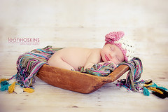.tiny smile. (*miss*leah*) Tags: sleeping baby flower girl smile hat scarf nikon naturallight newborn nikond700 propinsanity leahhoskins