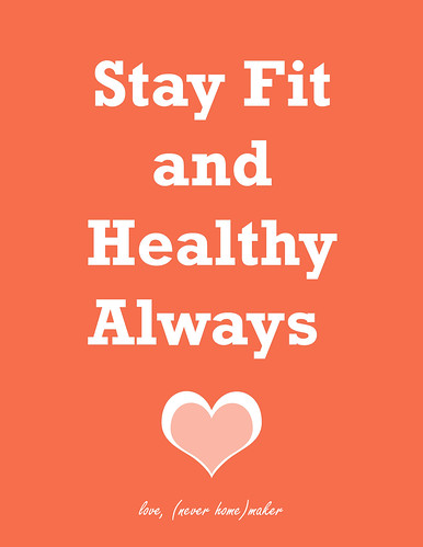 paragraph about how to keep fit and healthy