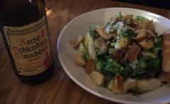 Brussels sprout salad and rauchbier
