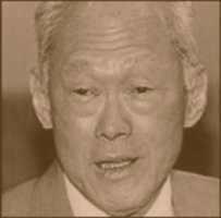 Lee Kuan Yew - in sepia tone
