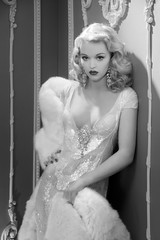 Inspired by George Hurrell 4 (LifebyLinda) Tags: lighting blackandwhite white black classic glamour femme hollywood fatale hurrell