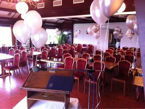 Tafeldecoratie 3ballonnen Restaurant Binnenmaas Mijnsheerenland
