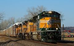 CNW Heritage in Kansas (Jeff Carlson_82) Tags: railroad heritage up train railway unionpacific railfan uprr emd cnw chicagonorthwestern sd70ace up1995 heritageunits