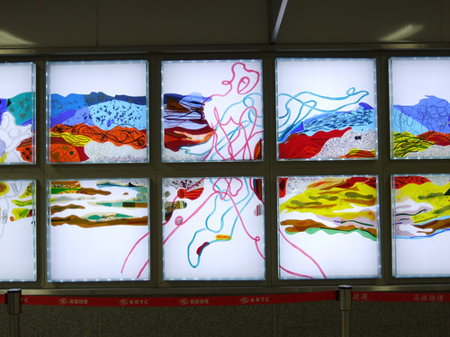 高雄捷運_西子灣站_1號出口的公共藝術展示_02