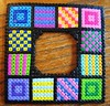 Perler Bead Patchwork Frame (Kid's Birthday Parties) Tags: quilt handmade craft frame patchwork custom kidscraft perlerbeads handmadeframe perlerbeadproject perlerbeadframe perlerbeadframeproject perlerbeadcraft framecraft