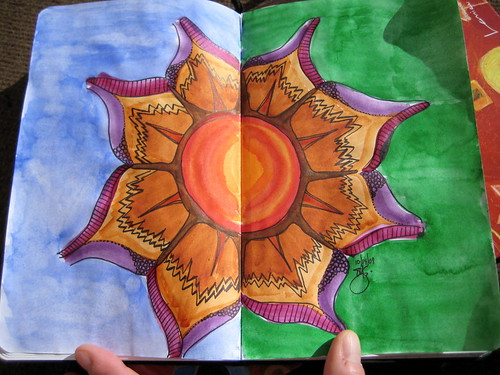 Watercolor in Ecosystem journal