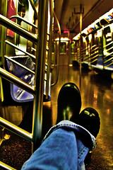 (sherrYgibsoN~here & there...) Tags: newyork photoshop subway sherry wellies 2009 rubberboots gumboots rainboots 365days 365dayspool 365days2009 somewherebetweenrealityandthetwilightofmyimagination 365dayspoolyr2 aloneonthesubway