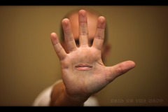 Day 299 of 365 - Hand (webgod.jesse.torres) Tags: photoshop self mouth 365 retouch retouching talktothehand 365selfportrait