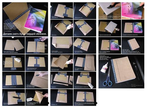 Как сделать обложку на скетчбук