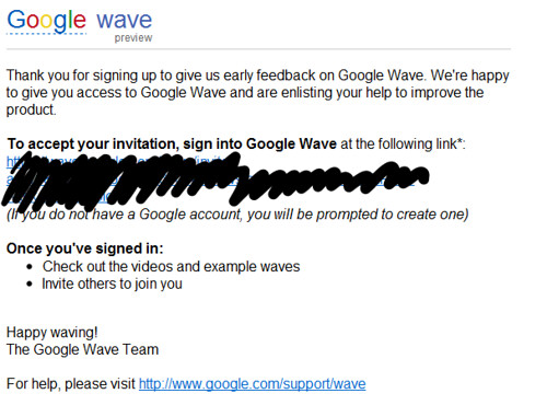 Google Wave Invite