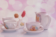 tea party (sweetkendi) Tags: pink bokeh teaparty