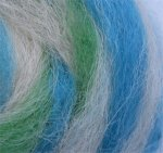 SLEEPING BEAR - hand processed alpaca roving - 4 ounces - spinning available